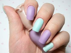 Purple and Serenity Nail Design