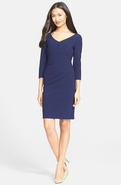 Diane von Furstenberg 'Bevin' Ruched Sheath Dress available at #Nordstrom