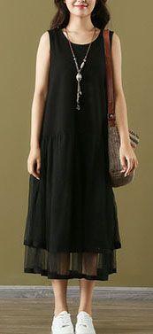 Linen Dresses, Cotton Dresses, Cotton Tunics, Black Maxi, Short Sleeve Dresses, Loose Dresses, Fashion Dresses, Classy, Linen Fabric