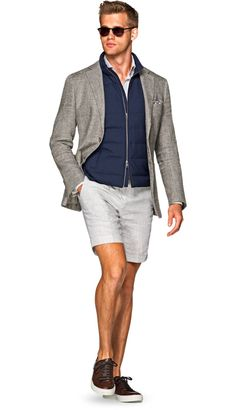 Jacket Light Grey Plain Havana C1122 | Suitsupply Online Store