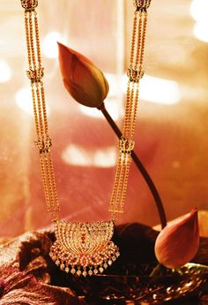 Tanishq Lotus Necklace width=