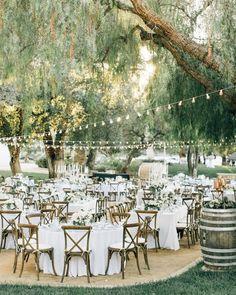 Gorgeous garden wedding with dreamy fairy lights ✨