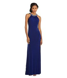 eea2d04d5 Hailey by Adrianna Papell Jeweled LowBack Gown  Dillards Vestidos