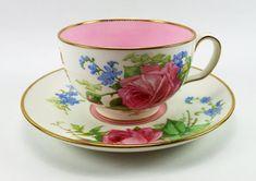 Minton Pink Rose Teacup & Saucer by L.Rivers @ 瓷海無涯 :: 隨意窩 Xuite日誌