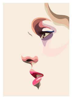 Perfil femenino para anuncios - imagen vectorial.