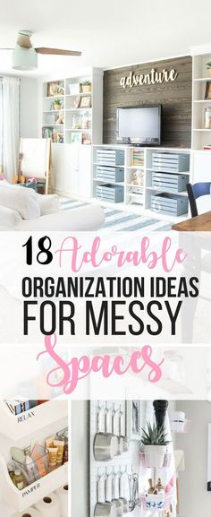 Wow, these organization ideas for clutter in the house are so clever! As a mom with kids, there's clutter everywhere, and these ideas are so pretty! organization ideas clutter 18 Beautiful Ways To Organize The Messiest Spaces