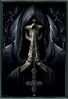 Grim Reaper Pictures Of Death   Gothic - Grim Reaper, Death Prayer, Spiral - Regular Posters - buy ...