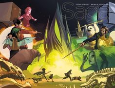 Saga from Image Comics, written by Brian K. Vaughan, with art by Fiona Staples is back with an explosive issue All of the characters Sci Fi Comics, Free Comics, Best Comic Books, Comic Books Art, Book Art, Image Comics, Saga Comic, Vaughan, Comic Book Covers