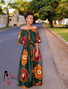 Buy this gorgeous African prints dress.