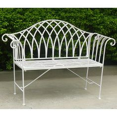 Lavinia Wrought Iron Bench - Outdoor Furniture