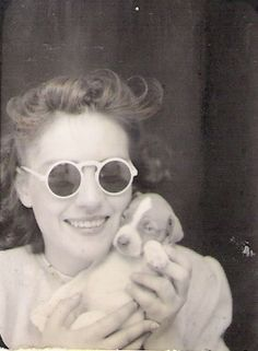 my aunt and puppy by 912greens, via Flickr