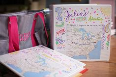 A binder full of fun things to do for the kids on a long road trip!