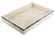 Single-Stripe Tray, Blue - $139