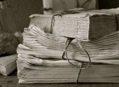 lovely textures and construction in these distressed books from @greige design greige