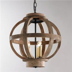 Mini Wood Globe Lantern (entry)