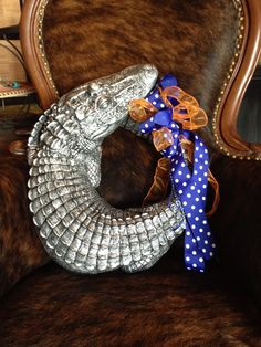 62acbb15b06 Gator Wreath Florida Gators