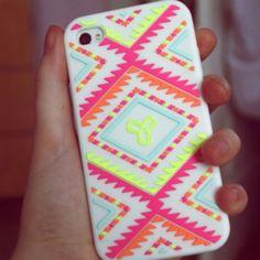 Neon tribal phone case