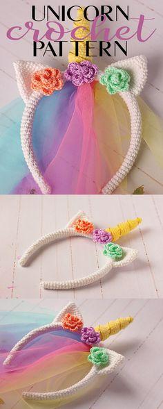 Unicorn crochet pattern instant downoad #ad