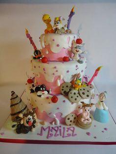 Baby looney tunes - by Diletta Contaldo @ CakesDecor.com - cake decorating website