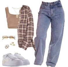 Swaggy Outfits, Baddie Outfits Casual, Indie Outfits, Teen Fashion Outfits, Retro Outfits, Cute Casual Outfits, Stylish Outfits, Polyvore Outfits Casual, Estilo Tomboy