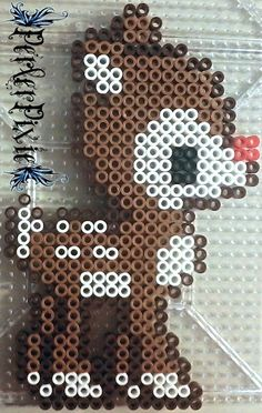 Kawaii Rudolph - Christmas perler beads by PerlerPixie on DeviantArt