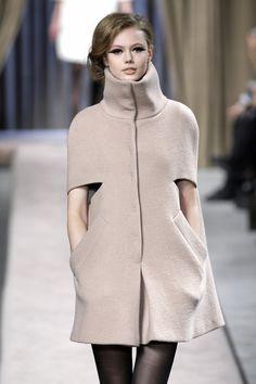 Adore the slit sleeve on this Giambattista Valli cape!