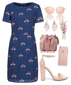 """Flamingo Dress"" by madison-taylor-73 on Polyvore featuring Sugarhill Boutique, Steve Madden and Pomellato"