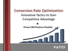 Upgrade Your Conversion Rate Optimization Game for 2017: Innovative CRO Practices for Ecommerce Businesses