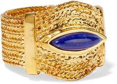 Aurélie Bidermann - Sunset Gold-plated Lapis Lazuli Ring - 52