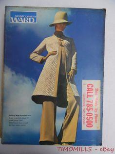 1971 Montgomery Ward Catalog Spring Summer Fashions Vintage Original 1218 Pgs   eBay