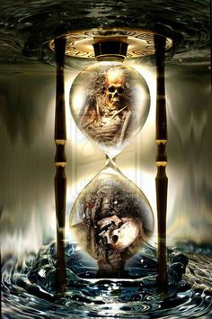 Keeping Time/Clock Hourglass.