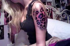 leopard tattoo like this