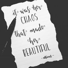 if only someone loved my chaos and didn't run from it