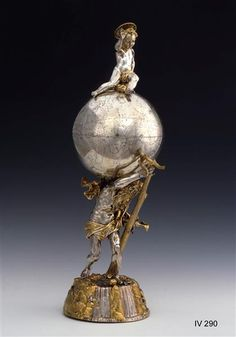 Globe Cup St. Christopher with the celestial sphere  Handlebars, Elias (Goldsmith) Augsburg to 1618-22 and 1624-1628