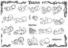 Tarzan (1999) - Little Tarzan ✤ || CHARACTER DESIGN REFERENCES | キャラクターデザイン • Find more at https://www.facebook.com/CharacterDesignReferences if you're looking for: #lineart #art #character #design #illustration #expressions #best #animation #drawing #archive #library #reference #anatomy #traditional #sketch #artist #pose #settei #gestures #how #to #tutorial #comics #conceptart #modelsheet #cartoon #infants #baby || ✤