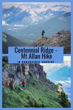 Hiking Centennial Ridge & Mt Allan in Kananskis Country, Alberta is a phenomenal full day hike that starts near Nakiska Ski Resort. Possible to do a one way hike with a shuttle Ridge Hiking Gear, Hiking Backpack, Hiking Trails, Hiking Food, Centennial Trail, Summit View, Alberta Travel, Discover Canada, Hiking Essentials