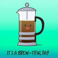 Kick start your day with a good brew... #puns #weekend More