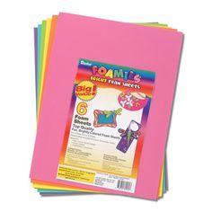 Foamies® 9 x 12 Foam Sheets - Assorted Bright Colors