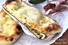 Focaccia farcita con zucchine e prosciutto cotto, secondo piatto