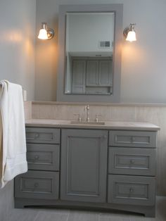 Bathroom Remodel Gray