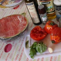 Recette Gaspacho tomates/pastèque par Marina.S - recette de la catégorie Soupes