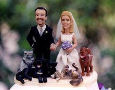 the best wedding cake top ever (thanks Melanie!)