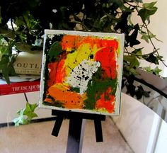 Original paint on canvas with display easel. #art #original #painting #gift $25.00