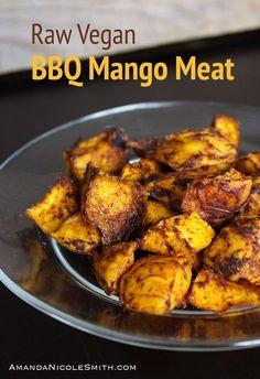 Raw Vegan Mango Meat - Carmen Home Raw Food Recipes, Snack Recipes, Fat Free Vegan, Mango, Pescatarian Recipes, Dehydrated Food, Dehydrator Recipes, Rabbit Food, Eating Raw