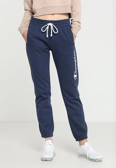 Champion ULTRA LIGHT PANTS LOGO - Treningsbukser - blue ink - Zalando.no