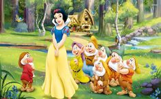 Snow White And The Seven Dwarfs HD Wallpaper