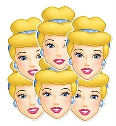 Disney Princess Party - Cinderella Face Masks x 6