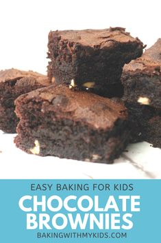 Mary Berry's chocolate brownies are super easy for kids as you just measure everything into one bowl and mix it together!  #recipe #chocolate #brownies #moist #fudgy #recipe easy #recipe homemade #gooey #cocoa powder Mary Berry, Baking With Kids, Toddler Fun, Chocolate Brownies, Baking Recipes, Cocoa, Biscuits, Berries, Homemade
