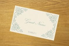 Place card template DIY place card download by WeddingTemplatesHub