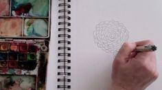 Great tutorial on doodling & watercolor!  I love Alissa Burke's art!